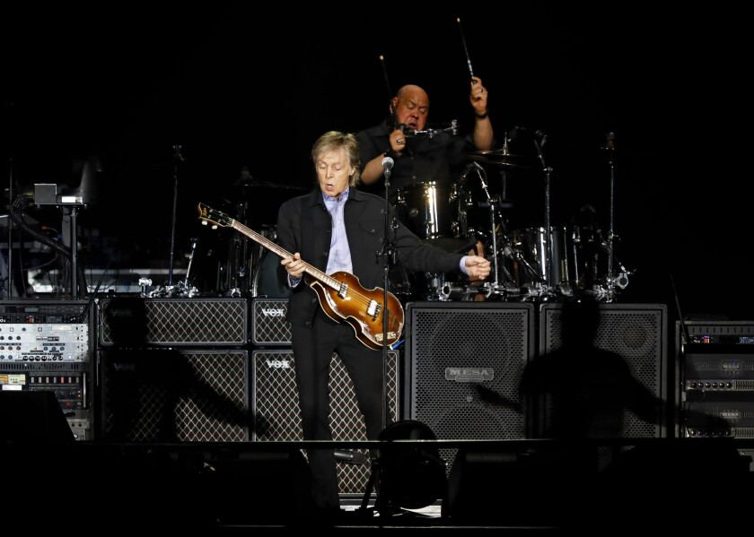 Paul McCartney rocked Petco Park on Saturday night, where he performed for a sold-out crowd of more than 42,000.