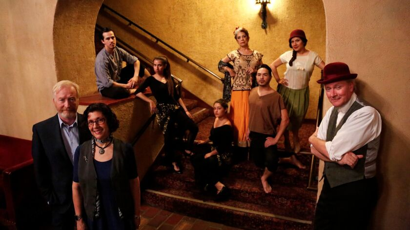 """The team staging """"They Shoot Mexicans, Don't They?"""" at the San Gabriel Mission Playhouse."""