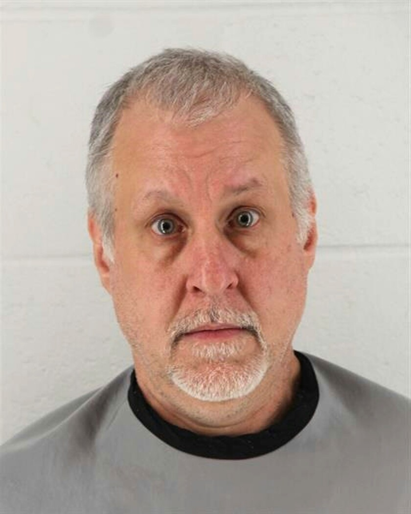 FILE - This Jan 24, 2019 booking photo released by Johnson County Sheriff's Office shows Raymond McManness. McManness has been sentenced to more than 30 years in prison for the death of his 75-year-old mother, whose emaciated body riddled with infected bed sores was discovered by authorities in her home in 2019. McManness was sentenced Wednesday, Sept. 8, 2021 to 374 months.(Johnson County Sheriff's Office via AP File)