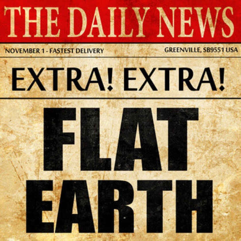 flat earth, newspaper article text
