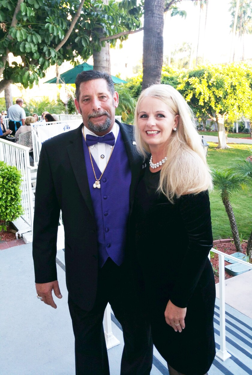 Poway Elks Exalted Ruler Norm Kaufman with Elks First Lady Lori Foley.