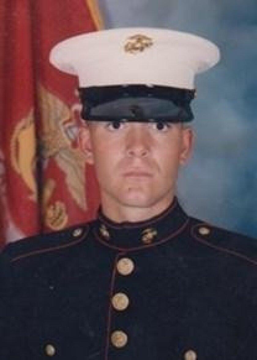 Active-duty Marine Staff Sgt. Steven Faulkner