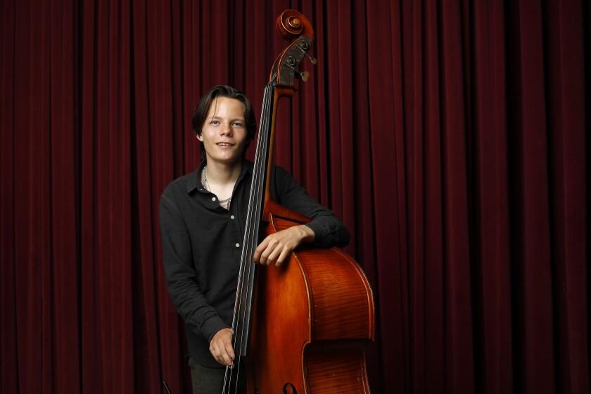 John Murray, 17, is a jazz bass wiz who has won national awards