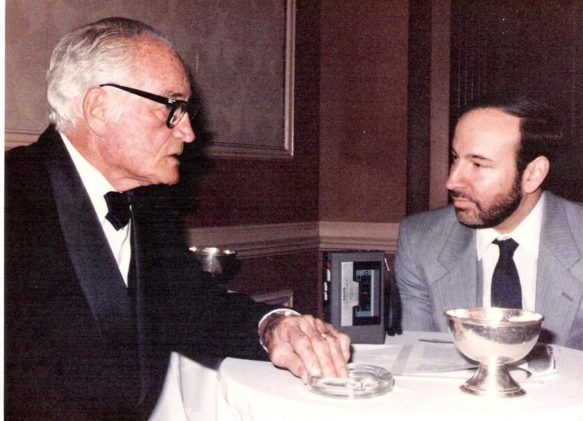 Goldberg with five-time U.S. Senator and former Republican Presidential candidate, Barry Goldwater.