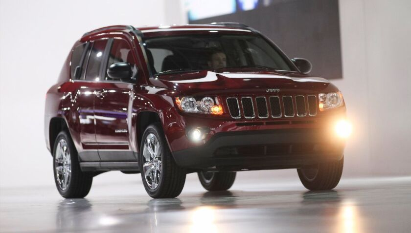 The restyled 2011 Jeep Compass is unveiled Jan. 10, 2011, at the North American International Auto Show in Detroit, Michigan. Fiat Chrysler will recall nearly 863,000 SUVs and sedans that failed to meet federal emissions standards, regulators announced March 13, 2019.