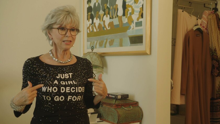 "EGOT winner Rita Moreno in the documentary ""Rita Moreno: Just a Girl Who Decided to Go For It."""