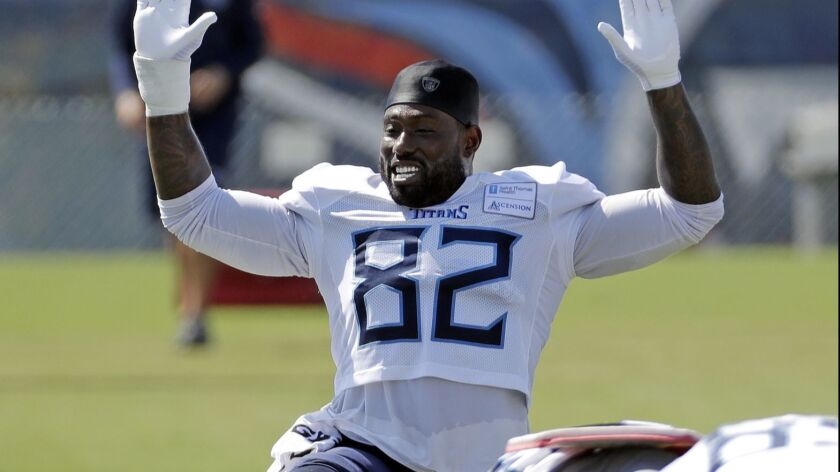 Tennessee Titans tight end Delanie Walker.