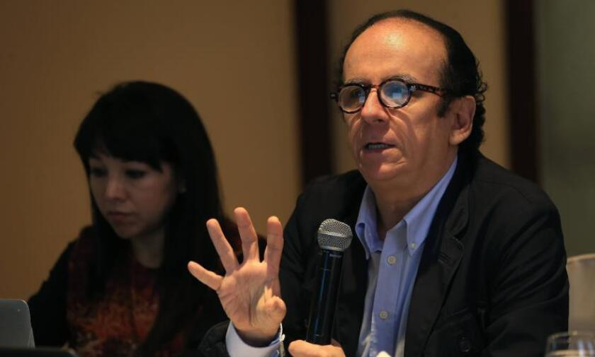 Peruvian economist and former Deputy Minister of Environmental Management Jose de Echave participates on Dec. 12, 2018, in Lima in the presentation of the 23rd Report of the Mining Conflicts Observatory. EFE-EPA/ Ernesto Arias