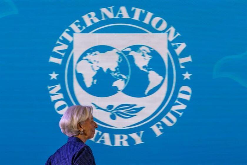 La directora gerente del Fondo Monetario Internacional (FMI), Christine Lagarde, asiste a una conferencia de prensa hoy, jueves 11 de octubre de 2018, en la reunión anual del Fondo Monetario Internacional (FMI) y el Banco Mundial en Nusadua, Bali (Indonesia). Bali acoge la reunión anual del FMI y el Banco Mundial del 8 al 14 de octubre de 2018. EFE