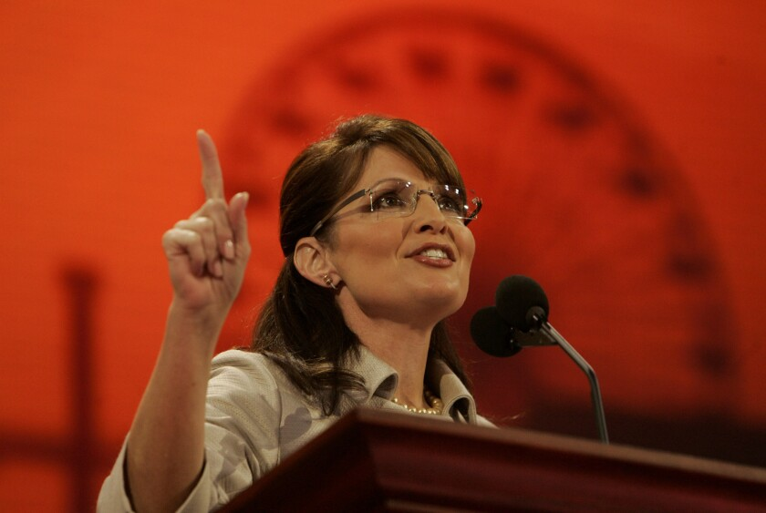 Sarah Palin's Facebook post has attracted a deluge of criticism.