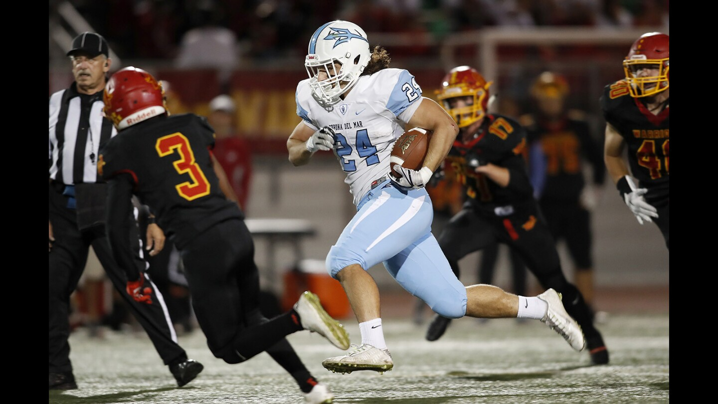 Photo Gallery:  Corona del Mar High vs. Woodbridge football in the Pacific Coast League championship game