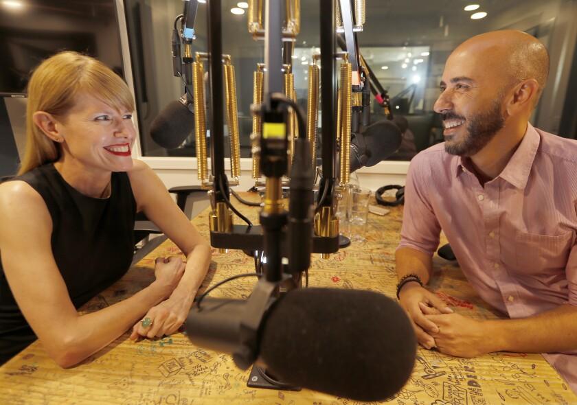 """""""Mob Queens"""" hosts Jessica Bendinger and Michael Seligman."""