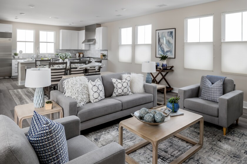 Model homes at Carlyle Carlsbad Village are open by appointment.