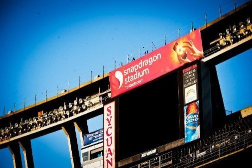 Qualcomm Stadium became Snapdragon Stadium Friday morning as part of a 10 day push to promote the San Diego wireless giant's processors used in smart phones.