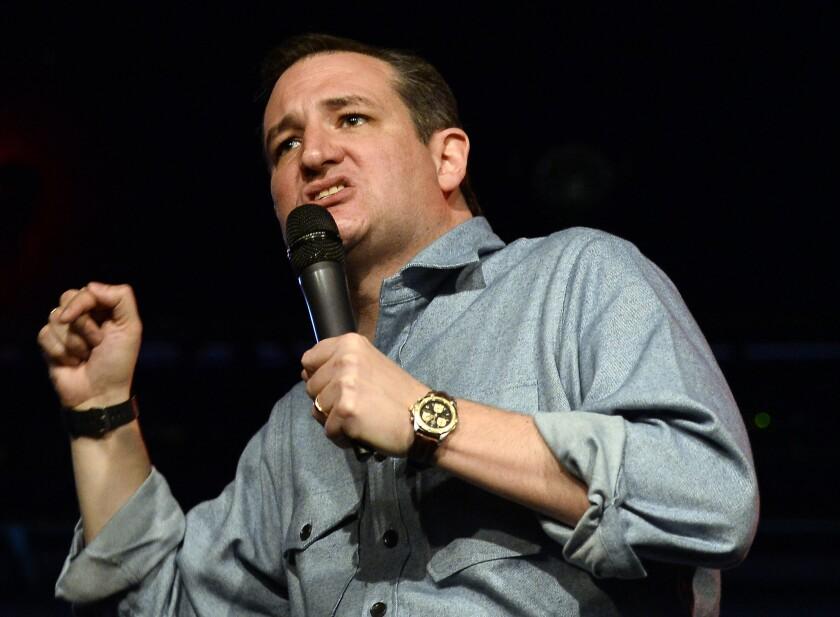 Republican presidential candidate Sen. Ted Cruz campaigns in Nashville, Tenn. on Dec. 22.