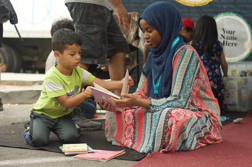 The San Diego-based Traveling Stories organization brings books to local communities through StoryTents set up in City Heights, Imperial Beach, North Park, Vista, El Cajon and La Mesa.
