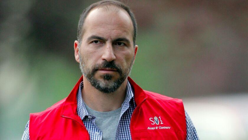 Uber Chief Executive Dara Khosrowshahi. (Paul Sakuma / Associated Press)