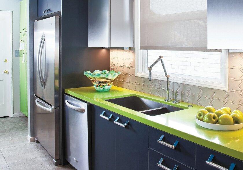 "This ""garage-Inspired"" kitchen was designed by Kristy Kropat."