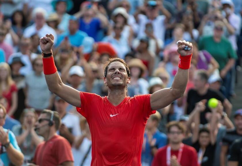 Rafa Nadal celebra su victoria en la final del Masters 1000 de Toronto. EFE