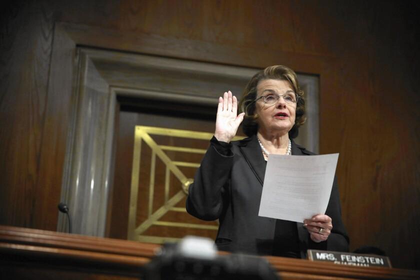 Sen. Dianne Feinstein (D-Calif.) is handing over leadership of the Senate Intelligence Committee to Sen. Richard M. Burr (R-N.C.).