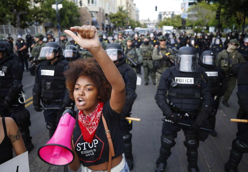 Jaelyn Kennedy protests police brutality and the recent death of George Floyd on June 1, 2020.