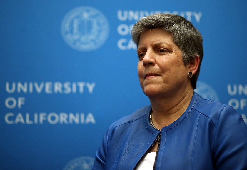 Janet Napolitano, former U.S. Secretary of Homeland Security, is about to become UC system president.