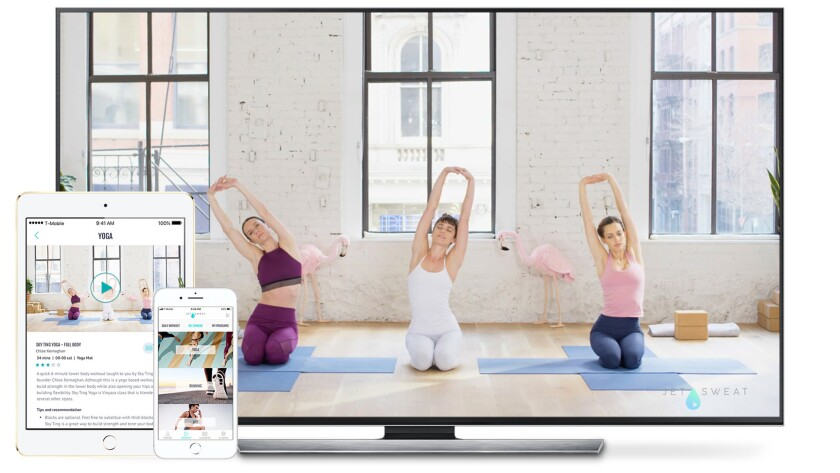 Best Workout Variety - JetSweat - New York's hottest studios are offering streaming videos on the