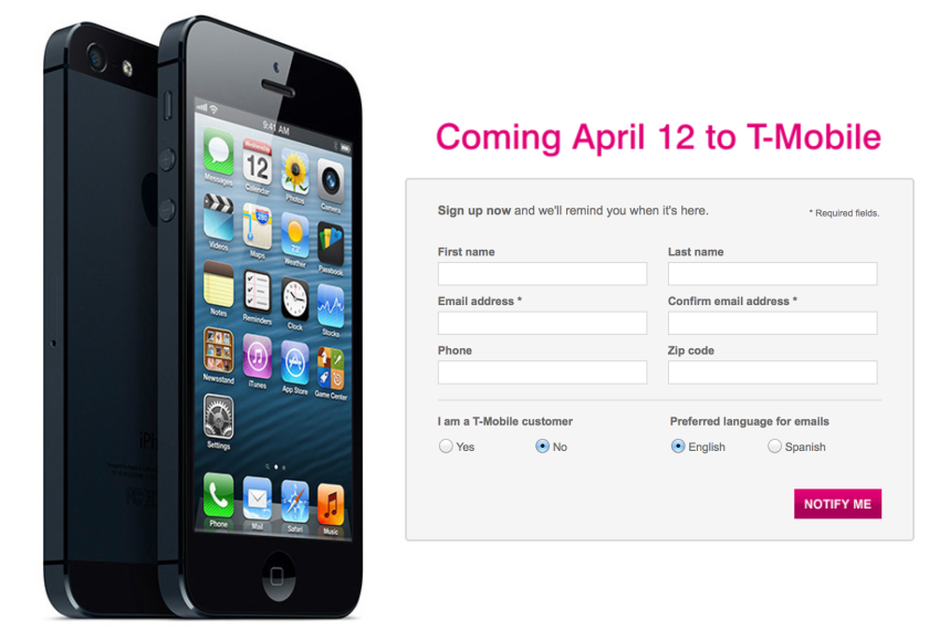 T-Mobile ends contracts, launches LTE and will sell iPhone 5 in April
