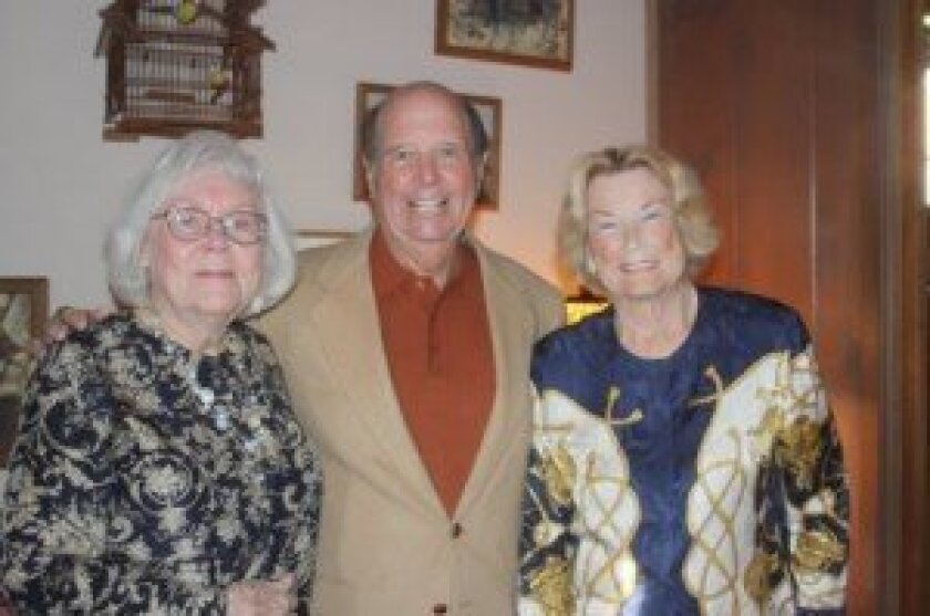 Thelma Reahm (nee) Hyder, Ken Haygood and Erna Becker (nee) Handley are all former student