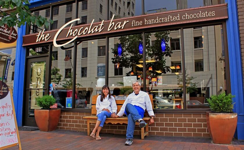 At the Chocolat Bar in Boise, Kristi Echols-Preston and Chris Preston make chocolate with flavor twists, such as white chocolate lemon lavender almond bark.