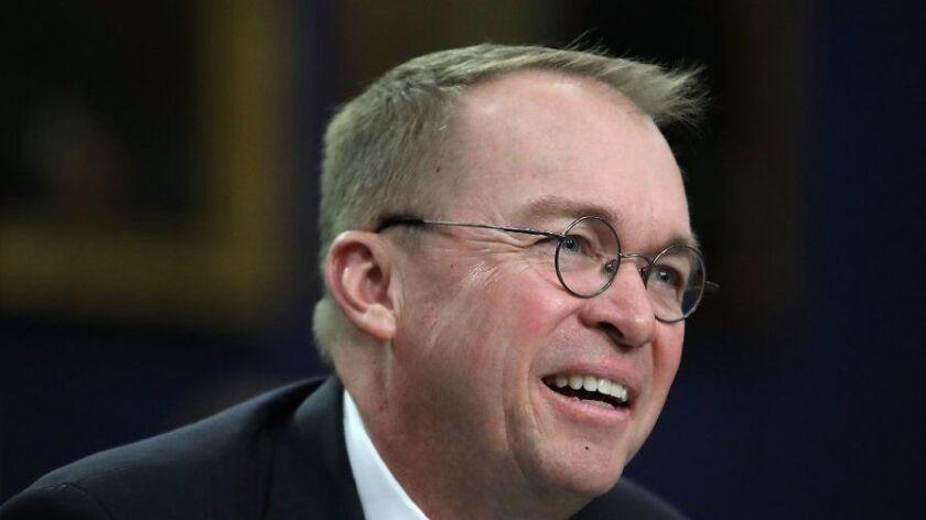 FILE: Trump Names Mick Mulvaney As Acting Chief Of Staff