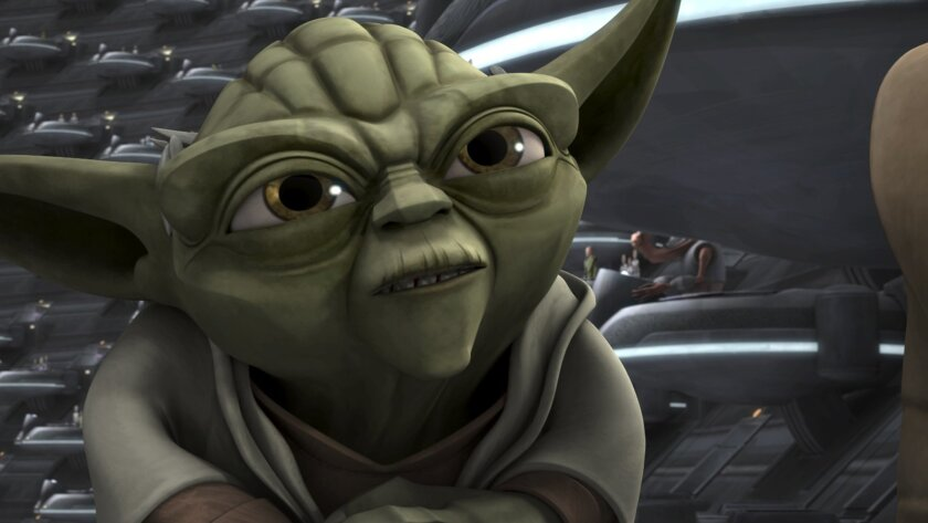 """This image provided by Netflix shows Yoda in a scene from an episode of the sixth season of """"Star Wars: The Clone Wars."""" The sixth and final season of """"Star Wars: The Clone Wars"""" will be shown exclusively to Netflix subscribers in the U.S. and Canada beginning March 7, 2014, as part of a licensing deal announced Thursday, Feb. 13, 2014. (AP Photo/Netflix)"""