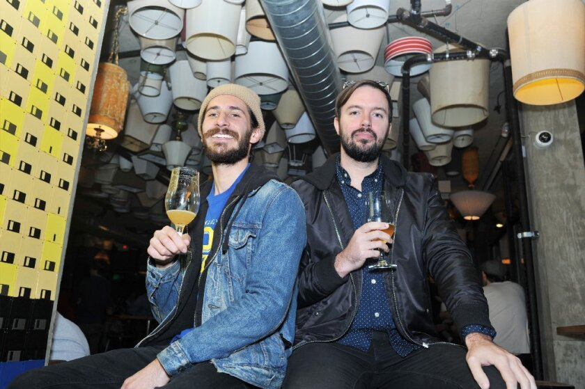 12.06.2016 -- l-r Mike Mule and Matt Vernon, members of Alive & Well, Grab A Brew at Modern Times in North Park. (Rick Nocon/ For The San Diego Union-Tribune)