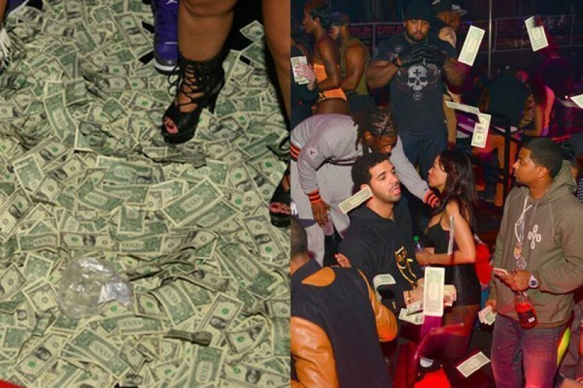 Drake brought $50,000 in dollar bills to a strip club in Charlotte. -- Prince Williams / ATLpics.net