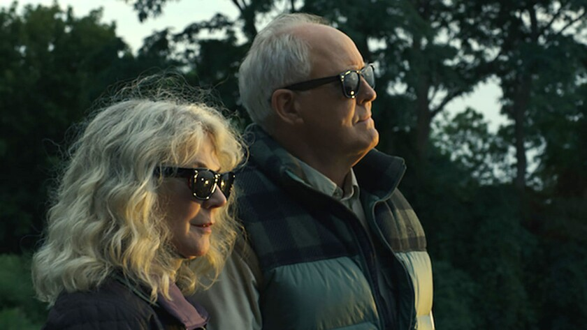 "Blythe Danner and John Lithgow in ""The Tomorrow Man."""