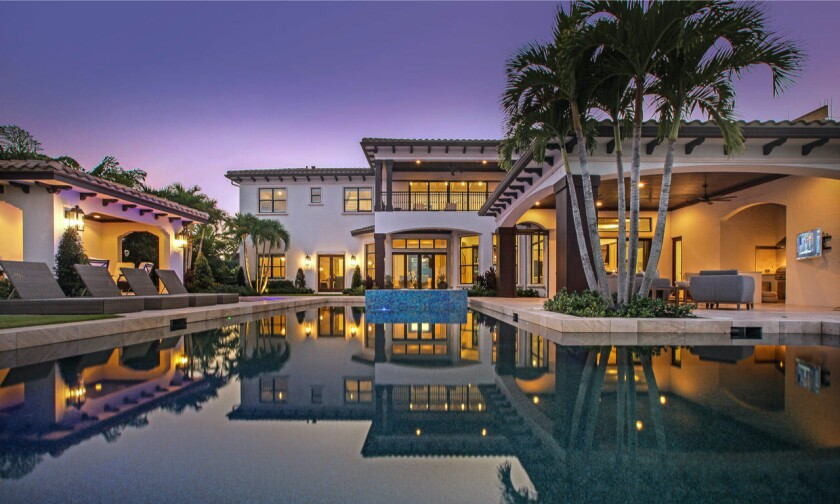 Matt Holliday's estate boasts a Mediterranean-style main house and guesthouse.