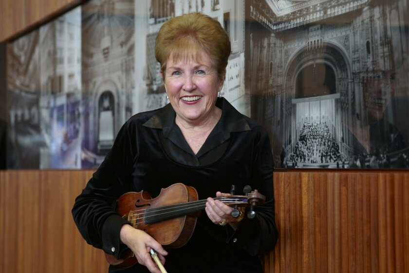 Violinist Pat Francis has played for the San Diego Symphony for more than six decades. She retired Sunday as the longest serving musician in the history of the Orchestra.
