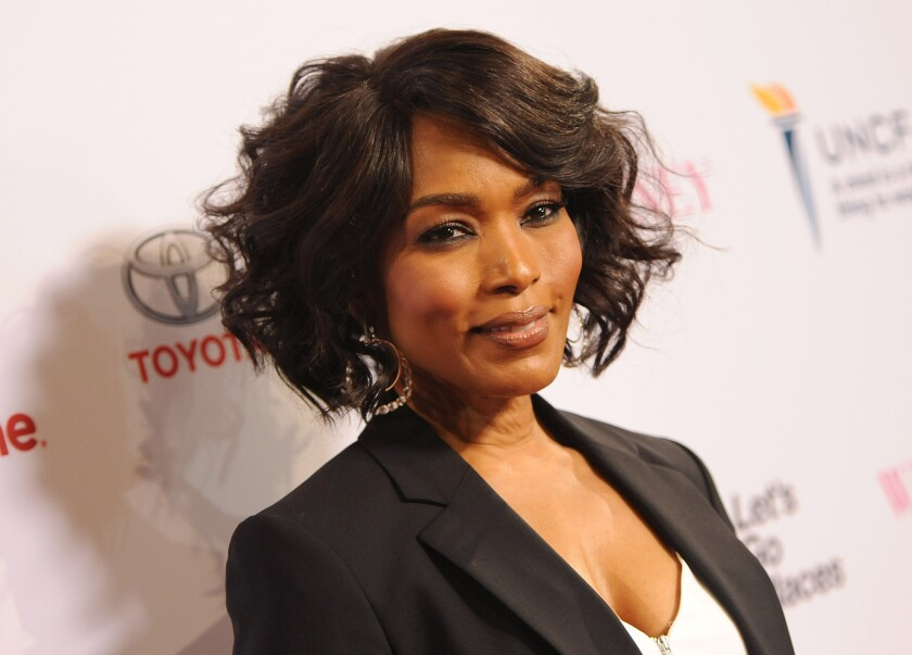 """Director Angela Bassett attends the premiere of Lifetime's Whitney Houston biopic """"Whitney"""" at the Paley Center for Media in Beverly Hills on Tuesday."""