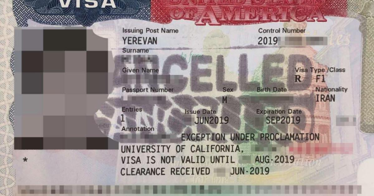 Iranische Studenten die angenommen wurden, um US-Schulen. Dann wird Ihre Visa wurden widerrufen, ohne Erklärung