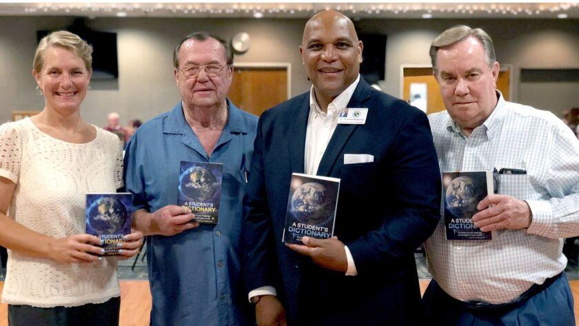 Attending the Glendale Elks' dictionary fundraiser are, from left, school board member Jennifer Free