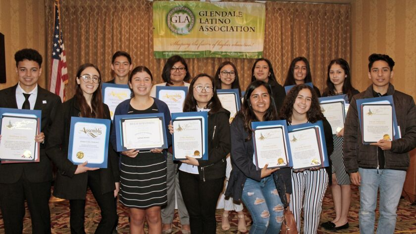 Fifteen scholarship winners received almost $20,000 given by the Glendale Latino Association at thei