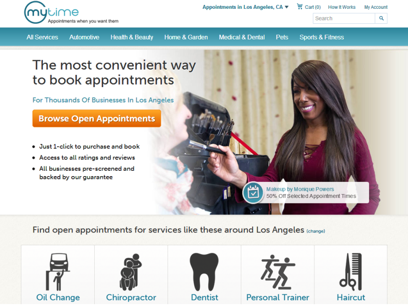 MyTime, a start-up that enables users to book appointments of all kinds in one place, launched Thursday.