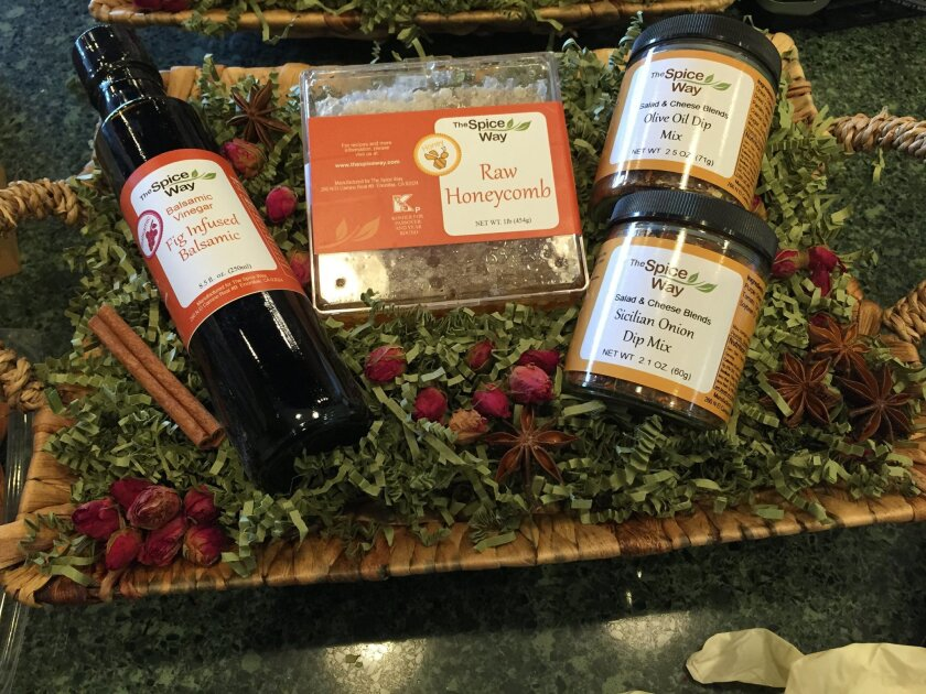 The Spice Way offers gift baskets and specialty gift wrapping.