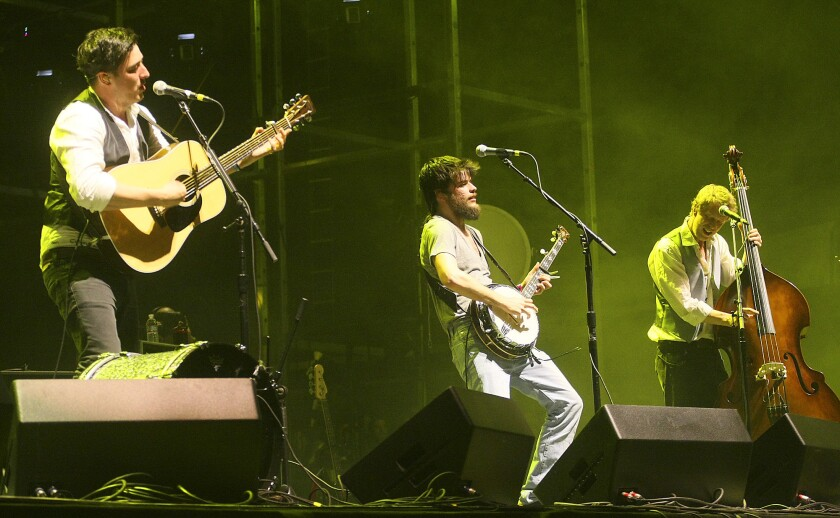 Mumford & Sons perform at the 2011 Coachella Valley Music and Arts Festival.