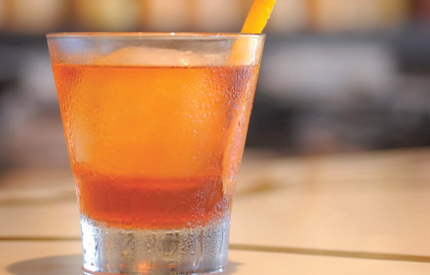 """Cusp's lead bartender, Nate Howell, created the """"Ron Burgundy"""" to honor the movie anchorman."""