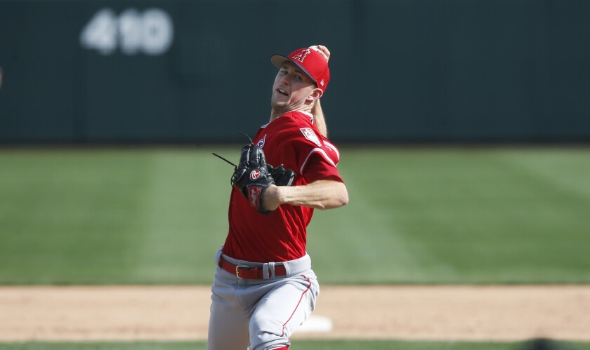 Angels pitcher Griffin Canning is dealing with soreness in his elbow.