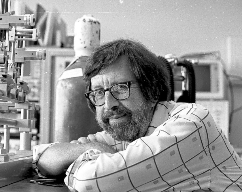 Richard Thompson, 84, a USC neuroscientist whose experiments with rabbits led to breakthrough discoveries on how memories are physically stored in the brain, died Sept 16. He is shown here in 1987.