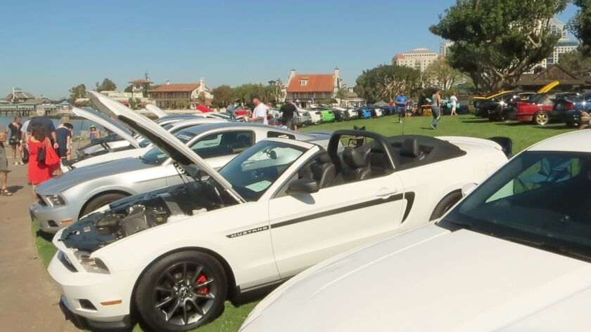 Mustangs by the Bay car show