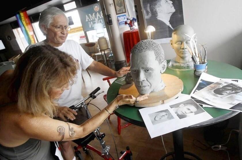 President influences artist's latest sculpture