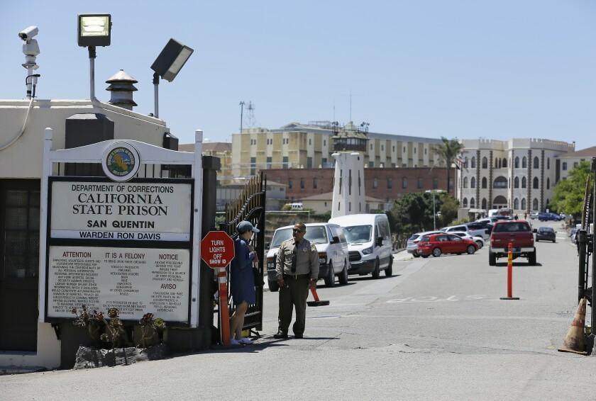 San Quentin State Prison in San Quentin, Calif.